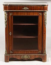 19TH C. CONTINENTAL ROSEWOOD CABINET BRONZE MOUNT