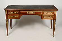 EMPIRE BRONZE MOUNTED DESK LEATHER TOP DRAWERS