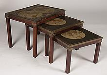NEST 3 CAMPAIGN STYLE BRONZE MOUNTED TABLES