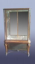 EXQUISITE BRONZE GILTWOOD VITRINE ON STAND 1900