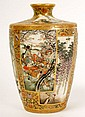 MEIJI PERIOD SATSUMA VASE MARKED AND HAS PANELS
