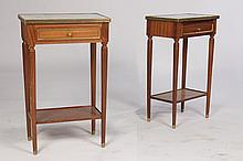 PAIR LOUIS XVI STYLE NIGHTSTANDS