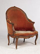 ANTIQUE L. 15 BERGERE CHAIR CURVED BACK