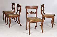 SET 4 CHARLES X MAHOGANY SIDE CHAIRS