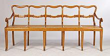 UNUSUAL MAPLE 5 CHAIR BACK SETTEE