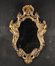 CONTINENTAL FIGURAL GILTWOOD MIRROR