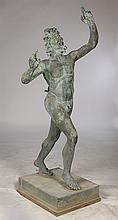 LIFE SIZED A. DELUCA VERDIGRIS BRONZE FAWN