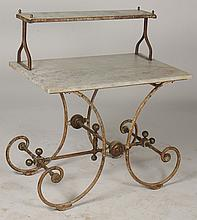 FRENCH 19TH C. MARESCHAL BRONZE BAKERS TABLE IRON