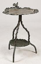 AUSTRIAN BRONZE GARDEN TABLE BIRD BATH C.1920
