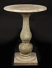 CARVED MARBLE BIRD BATH SHALLOW DISH TOP 1900