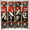 CHINESE PANEL FOLDING SCREEN MOTHER OF PEARL