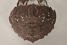 ORNATELY CARVED EAST INDIAN BIB NECKLACE C. 1940