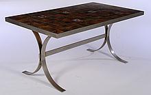 ROGER CAPRON (ATTR.) FRENCH DINING TABLE C.1970