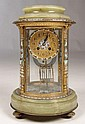 19TH C. ONYX & ENAMEL COLUMN CLOCK