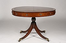19TH CENTURY GEORGE III STYLE RENT TABLE MAHOGANY