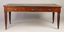 ENGLISH MAHOGANY PARTNERS DESK CIRCA 1890