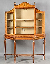 MID 19TH C. ADAMS STYLE SATINWOOD VITRINE