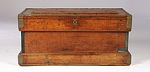 WOOD BRASS CAMPAIGN CHEST W.E. MCCASLAND C. 1900
