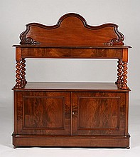 19TH C. BUFFET 2 DRAWERS OPEN SHELF