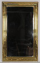 A FRENCH BRASS CLAD BISTRO MIRROR CIRCA 1900