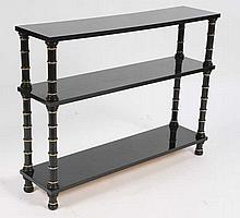 STYLISH EBONIZED ETEGERE BOOK CASE 3 SHELVES