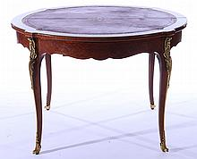 FRENCH BRONZE MOUNTED GAMES TABLE 1930