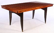 FRENCH ROSEWOOD DINING TABLE PARQUETRY C.1950