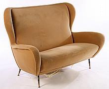 UPHOLSTERED ITALIAN 2 SEAT SOFA 1950