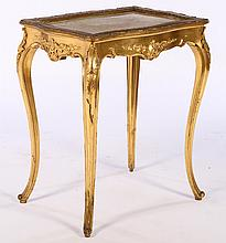 LOUIS XV GILT WOOD CARVED TABLE ONYX TOP C.1900