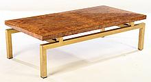 FRENCH  MID CENTURY BURL WOOD COFFE TABLE 1970
