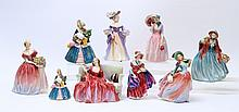9 PC COLLECTION OF ROYAL DOULTON FIGURINES