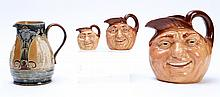 4 PC ROYAL DOULTON JUG JOHN BARLEYCORN PITCHERS