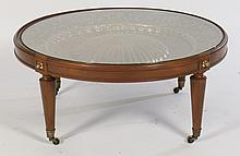 DIRECTOIRE ROUND MAHOGANY COFFEE TABLE