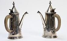 PAIR ENGLISH STERLING COFFEE POTS 24.84 TROY OZ