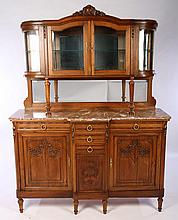 LATE 19TH C. CARVED WALNUT SIDEBOARD / SERVER