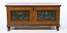 19TH C. CONTINENTAL OAK BLANKET CHEST