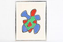4 COLOR LITHOGRAPHS ORGANIC ABSTRACTION SIGNED