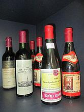 Three half bottles of wine, Volnay 1966, Chateau
