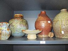 A selection of Studio pottery including oxide