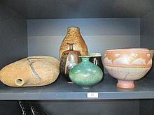 A selection of Studio pottery and stoneware,
