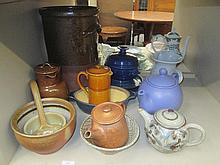 A selection of ceramics including Studio pottery