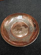 An early 20th century copper Arts and Crafts bowl,