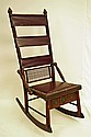 Rare Huntzinger Victorian Sewing Rocking Chair