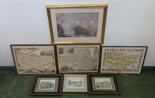 Reproduction Maps Kent, Durham Castle, Limited Edition Prints Durham Cathedral & Biddenden (7)