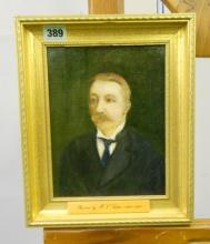 Late C19th/Early C20th Portrait Doctor to late Russian Tzar? painted by Frederic Nathaniel Sutton 1865 - 1956 by descent from family, in gilt frame, approx. 7