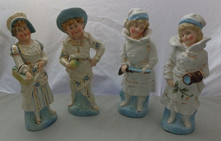 Victorian Porcelain Figures of Children: girl