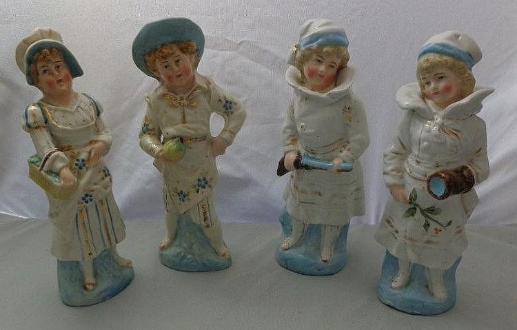 Victorian Porcelain Figures of Children: girl