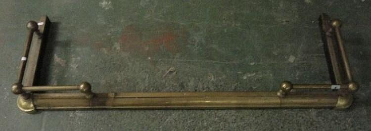 Brass Fire Kerb with raised corner rails &