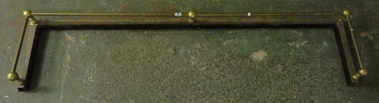 Brass Kerb with raised rail on baluster turned
