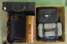 Camera Equipment inc. carrying cases, bags, attache case, magazine holders etc. (2 Boxes)